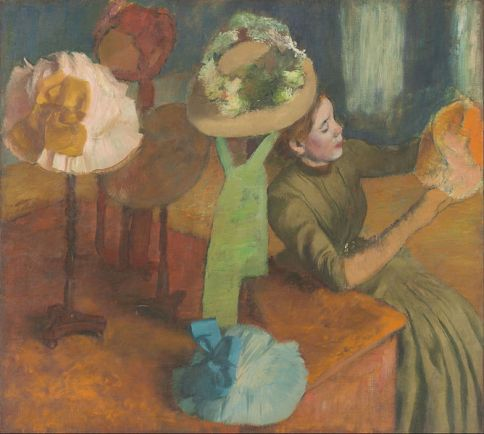The Millinery Shop by Edgar Degas This work is in the public domain.